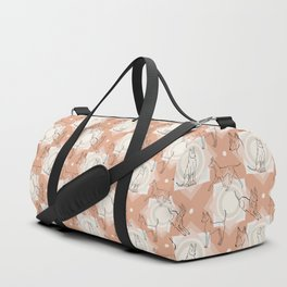 Thai Ridgeback Pattern in Light Terracotta Duffle Bag