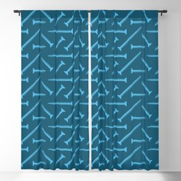 Blue screw pattern Blackout Curtain