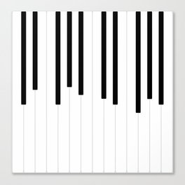 Piano keys, music background #society6 #decor #buyart #artprint Canvas Print