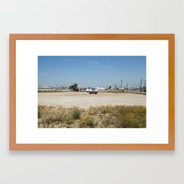 wasted space. Framed Art Print