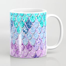 Mermaid Scales with Unicorn Girls Glitter #9 #shiny #decor #art #society6 Coffee Mug