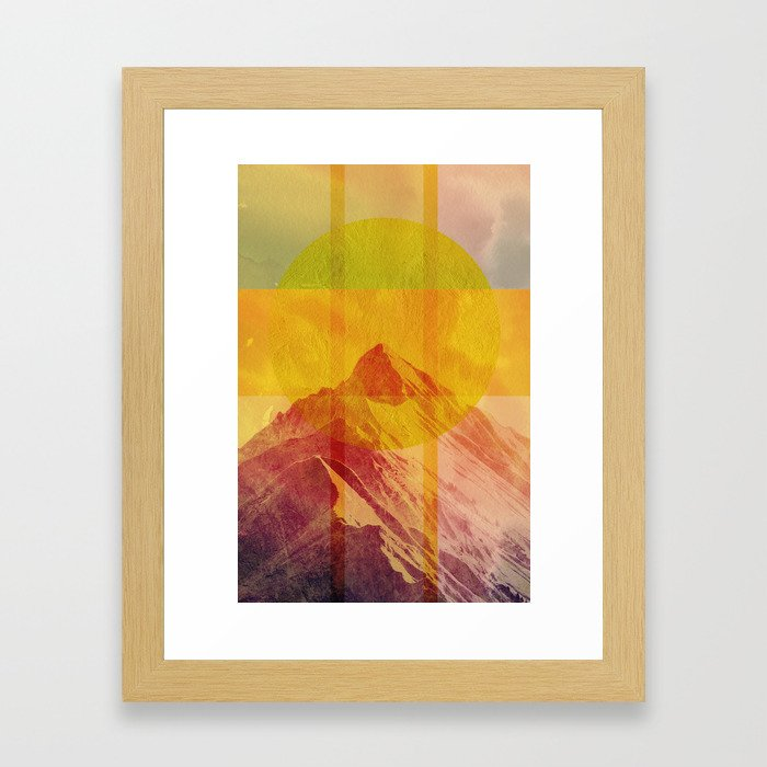 Geometric Composition 6 Framed Art Print