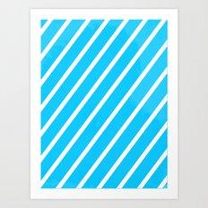 Blue & White Stripes Art Print