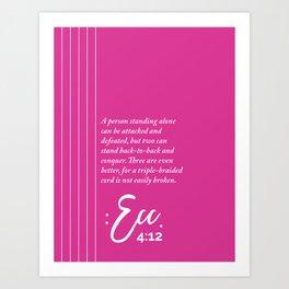 Ecc. 4:12 Print Art Print