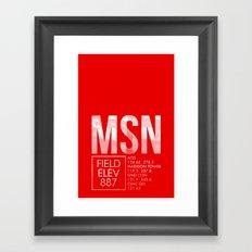 MSN Framed Art Print