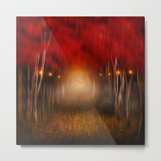 Red Melody Metal Print