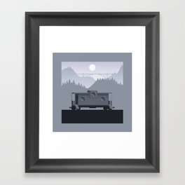 The Lonely Caboose Framed Art Print