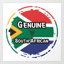Genuine South African Art Print