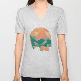 Geometric Skull Unisex V-Neck