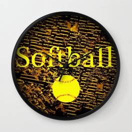 Softball Wall Clock