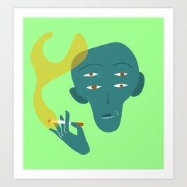 Quatre Ulls A Art Print