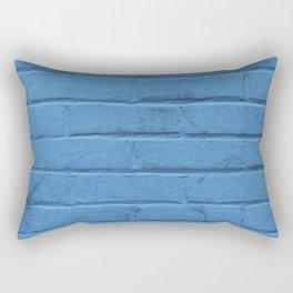 Urban Brick - Blue Jazz Rectangular Pillow