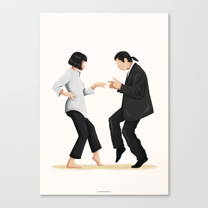Pulp Fiction Twist Dance Canvas Print