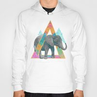 baby elephant Hoodies featuring elephant  by Laura Graves
