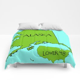 Alaska and the Lower 48 Forty-eight Comforters