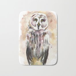 Gary The Great Gray Owl Bath Mat