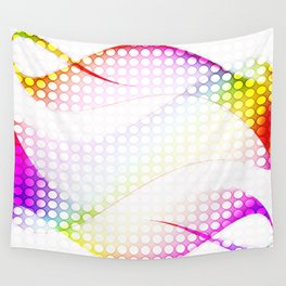 abstract colorful tamplate Wall Tapestry