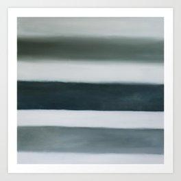 grey strata Art Print