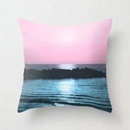 Sunset Ocean Bliss #5 #nature #art #society6 Throw Pillow
