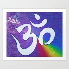 Mantra ... Aom in white Art Print