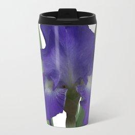 Stellar Lights, Deep blue-violet Iris Travel Mug