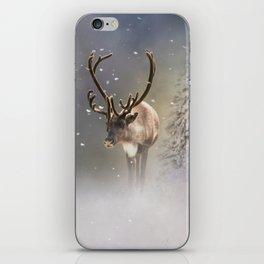 Santa Claus Reindeer in the snow iPhone Skin