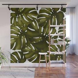 monstera leaves 3 Wall Mural