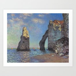 Claude Monet - The Cliffs at Etretat Art Print