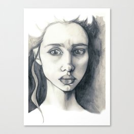 Pencil Drawing Canvas Print