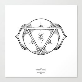 Third Eye Chakra - Black on white Canvas Print