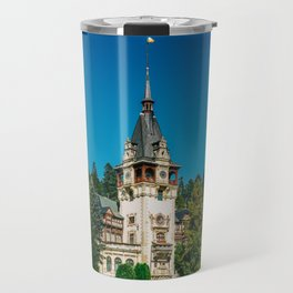 Peles Palace In Transylvania, Architecture Photography, Medieval Castle, Mountain Landscape, Romania Travel Mug