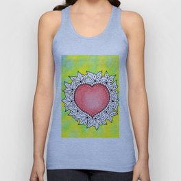 Watercolor Doodle Art | Heart Unisex Tank Top