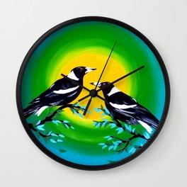 Sun and Birds Wall Clock
