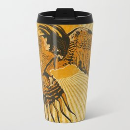 Bright colored Phoenix Bird Mythology Metal Travel Mug