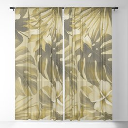 Tropical flowers 6 Sheer Curtain