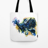 tardis Tote Bags featuring Tardis  by DifficultyEasy