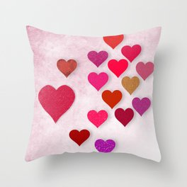 Hearts Galore Throw Pillow