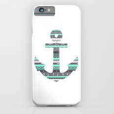 Tiffany Mint Aztec Pattern Anchor Slim Case iPhone 6
