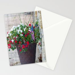 Flowers & Flags Stationery Cards