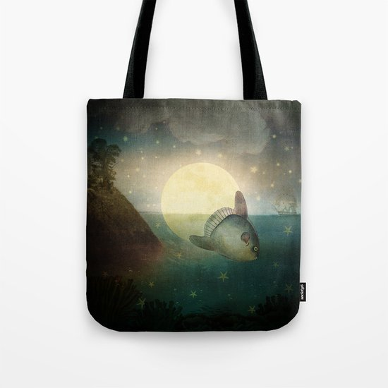 The Fish That Stole The Moon Tote Bag