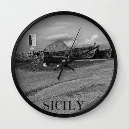 Centro Subacqueo al Porto di TRAPANI in SICILIA Wall Clock