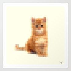 Censored Cat Art Print