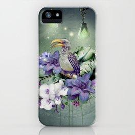 FLORAL MAGIC HORNBILL iPhone Case