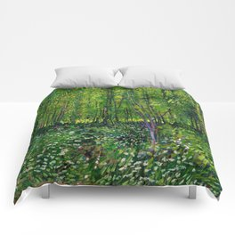 Vincent Van Gogh Trees & Underwood Comforters