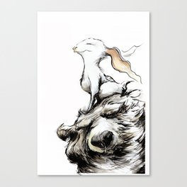 Feel the wind in your ears Canvas Print