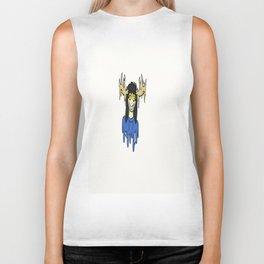 blue the deer girl Biker Tank