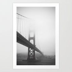 Golden Gate Bridge + Battleship Art Print