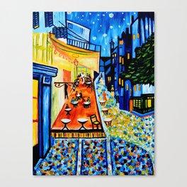 Cafe Terrace - Homage to Van Gogh Canvas Print