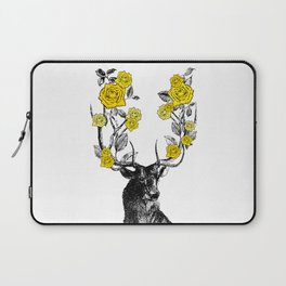 The Stag and Roses   Yellow Laptop Sleeve