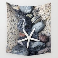 starfish Wall Tapestries featuring Starfish by LebensART Photography